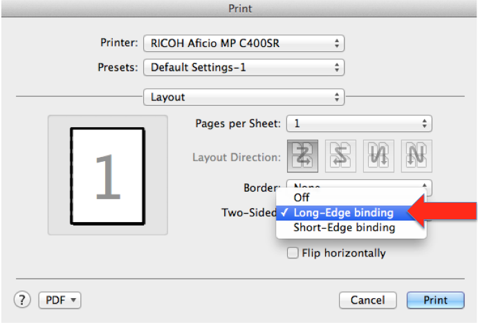Printing - Creating Defaults - Ricoh Printers - Mac OSX
