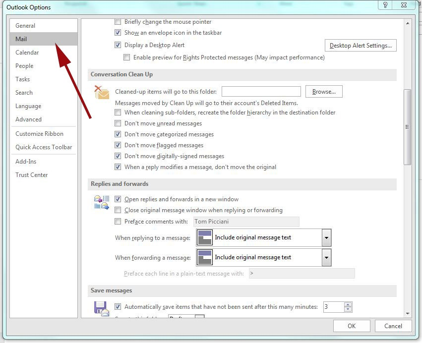 Outlook 2013/16 Replies/Forwards settings - IT Technical